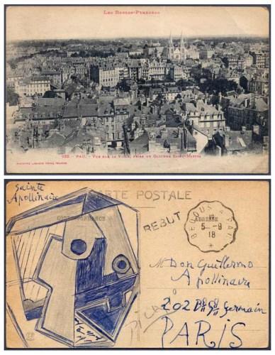 毕加索亲笔签画明信片拍出18.8万美元创世界纪录