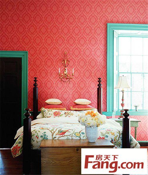卧室装修 壁纸 小户型装修 墙壁设计 装修风格 欧美图案