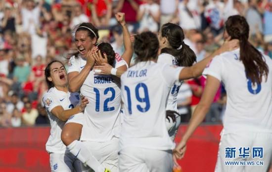 女足世界杯八分之一决赛:英格兰胜挪威