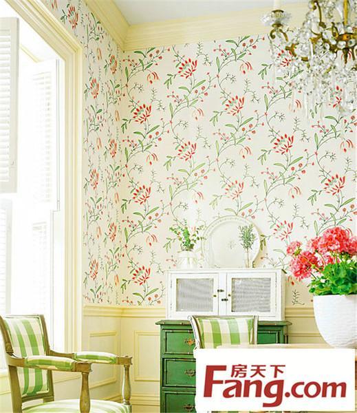 卧室装修 壁纸 小户型装修 墙壁设计 装修风格 田园风