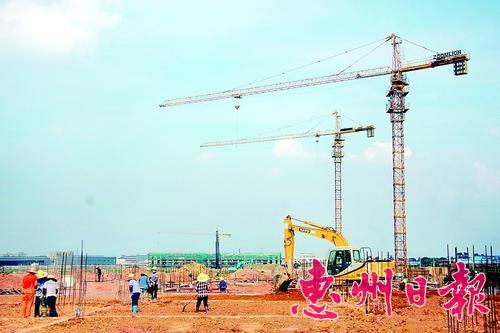 欣旺达新能源项目建设现场。