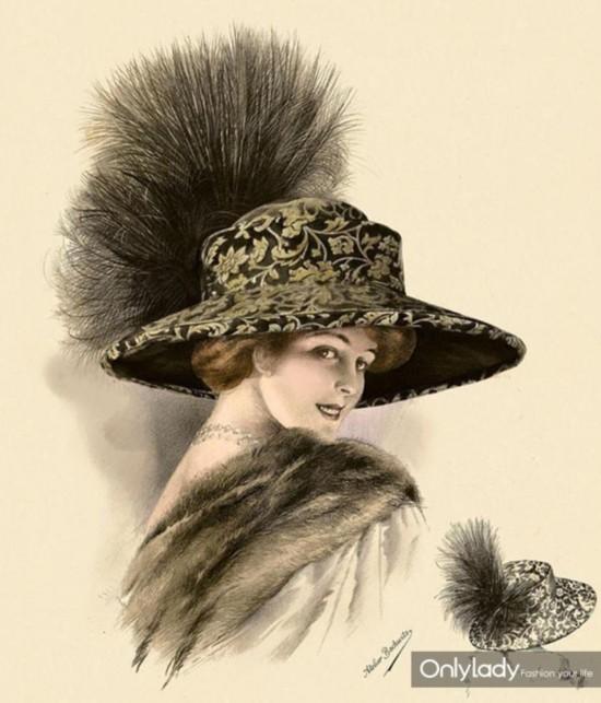 1分钟看遍女人们的帽子变迁