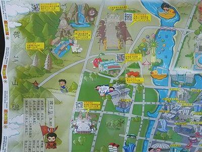 宁夏手绘旅游地图很萌很实用 全年计划免费投放100万份