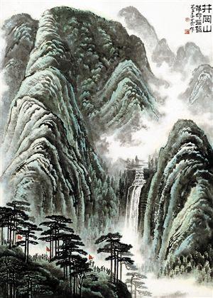 李可染画作《井冈山》今春拍了1.265亿元。(嘉德供图)