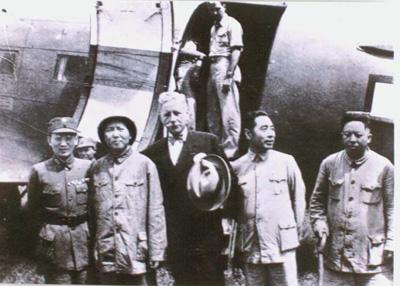重庆谈判 的罕见老照片图片
