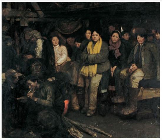 """陈宜明 1950年生。""""伤痕美术""""代表艺术家之一。此幅作品名称:《我们这一代》1984年作。"""