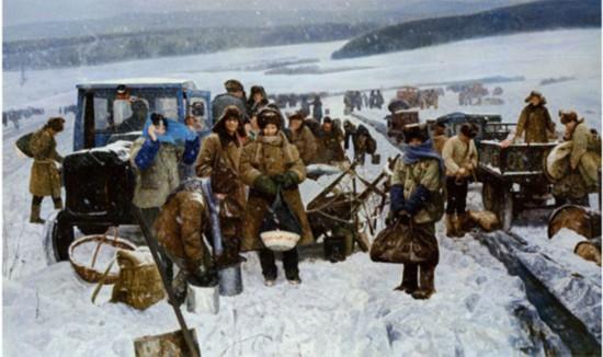 陈宜明  《青春记忆·知识青年上山下乡》  布面油画   2009年作