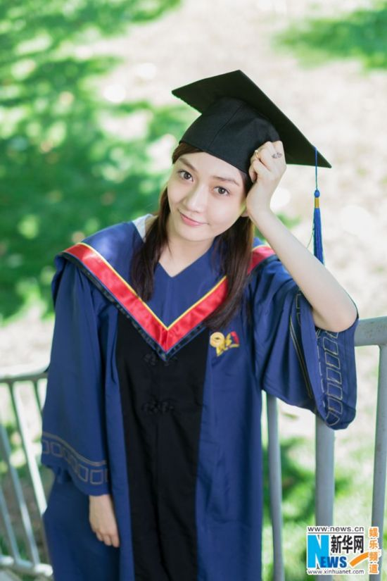 潘之琳硕士毕业照曝光 盘点明星罕见学士服毕业照