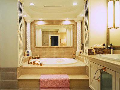 洗浴背景墙面设计