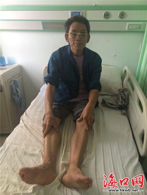"""老人在海口一医院""""赖床""""不走 儿子拒接回家"""