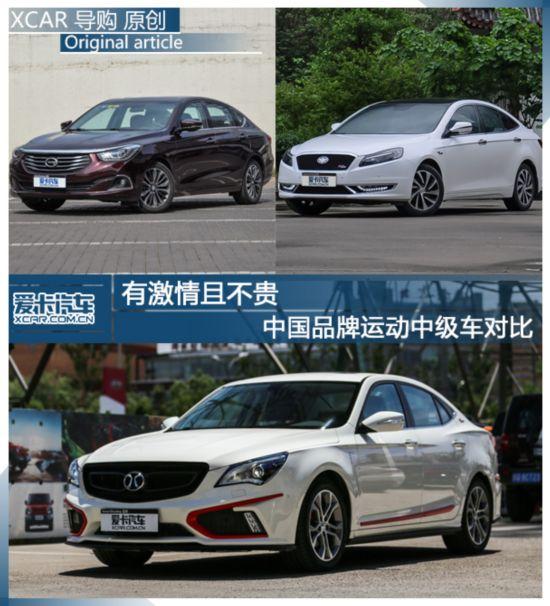 中国品牌运动中级车