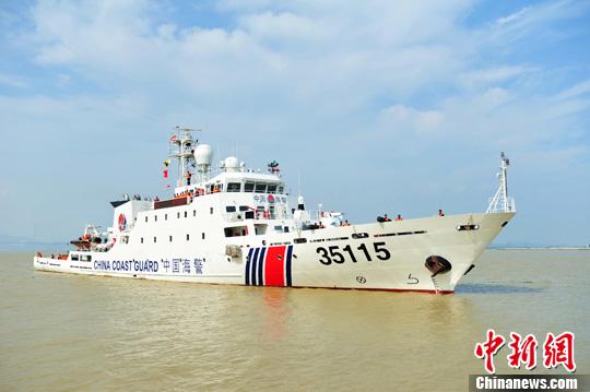 中国海警舰船编队7月3日在钓鱼岛领海巡航