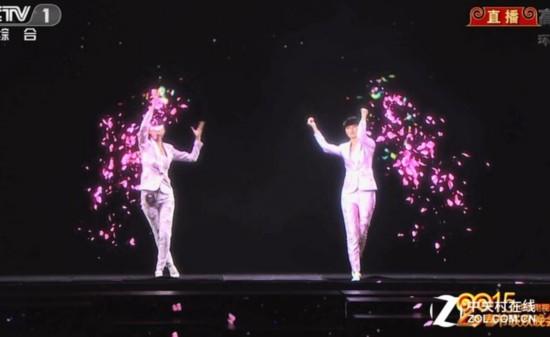 3d全息投影技術讓舞臺出現兩個李宇春