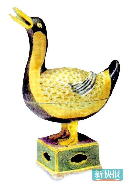 明成化素三彩鸭熏,1988年景德镇出土