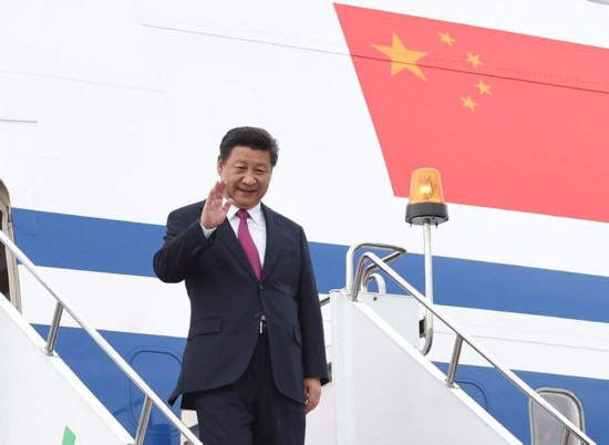 法出席金砖国家领导人第七次会晤和上海合作组织成员国元首理事会图片