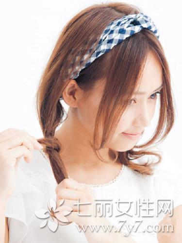 韩式女生头巾的系法图解 轻松打造夏日妙龄少女