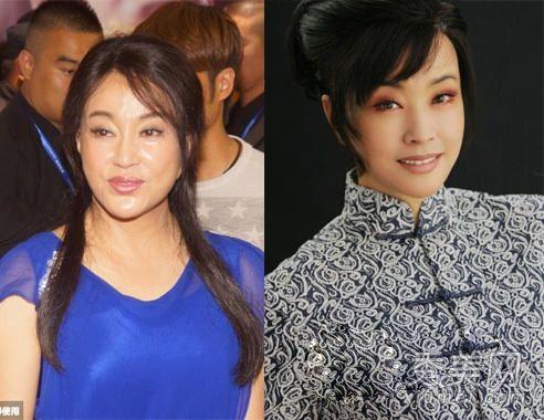 看看刘晓庆这张没有PS的照片,脸部看起来十分僵硬,被质疑整容也