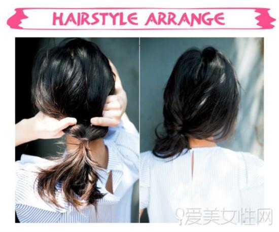 多款扎发教程图解   扎发步骤:   step1:将头发绑成马尾后从橡皮筋