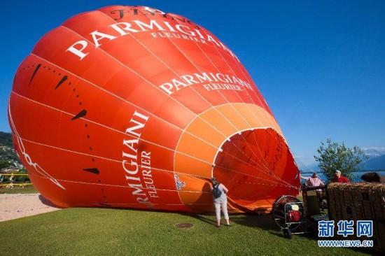 (晚報)(1)熱氣球升空助興蒙特勒爵士音樂節