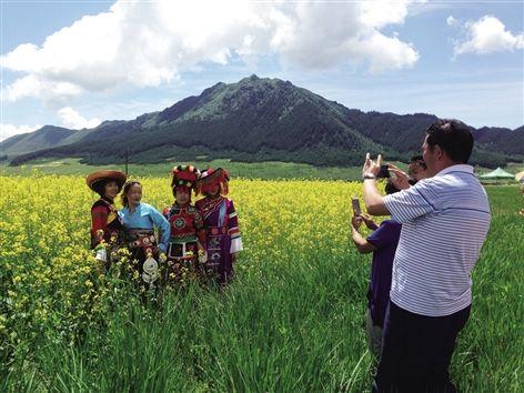 第四届互助南门峡油菜花艺术节开幕
