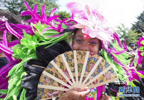(国际)(1)缤纷的青少年加勒比狂欢游行