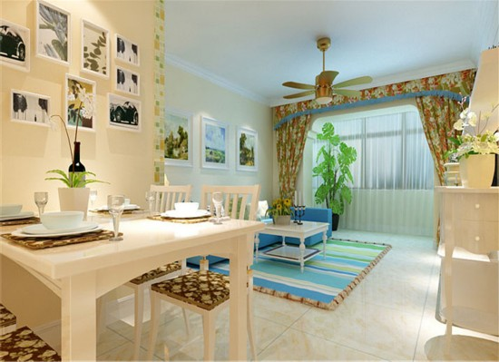 融泽嘉园-二居室-95.00平米-餐厅装修效果图