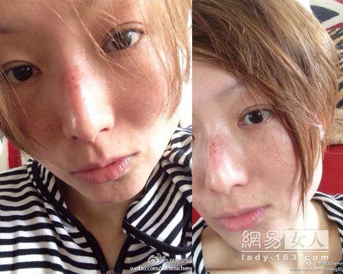 40岁李玟晒素颜照 大胆秀雀斑的女星(图)图片