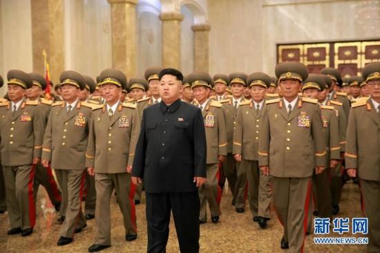 (國際)金正恩參謁錦繡山太陽宮 紀念朝鮮祖國解放戰爭勝利62周年
