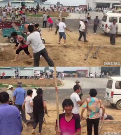 山东日照村民百人械斗12人受轻微伤9人被拘(图)