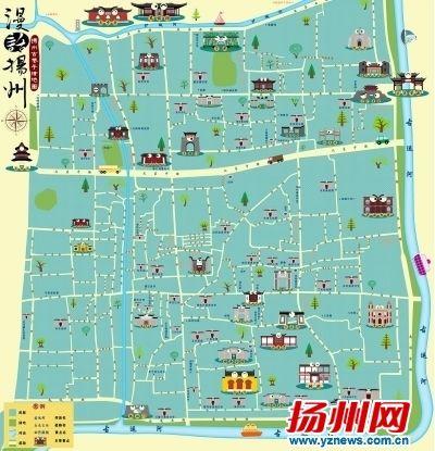 """85后小伙手绘""""最全扬州古巷地图"""""""