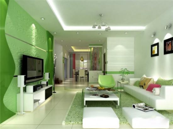 绿色风格装修效果图 让清新田园风的凉爽吹进家门