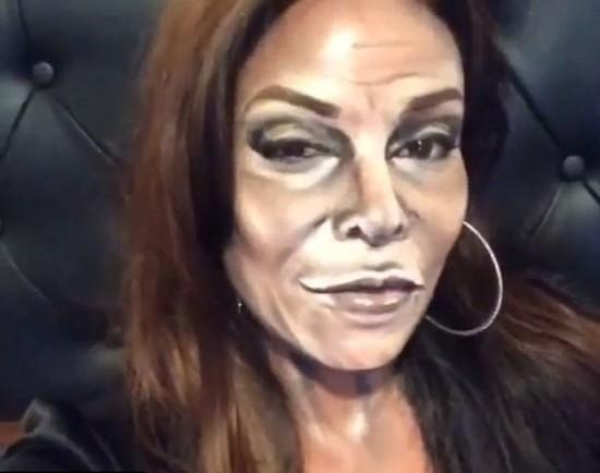 """法国化妆师神奇""""易容术"""" 变身多位明星(组图)"""
