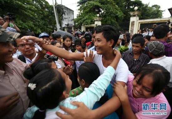 缅甸大赦服刑者 155名中国伐木工人获释