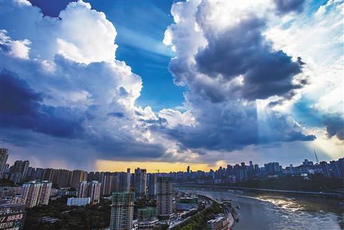 昨日重庆最高气温达39.1℃