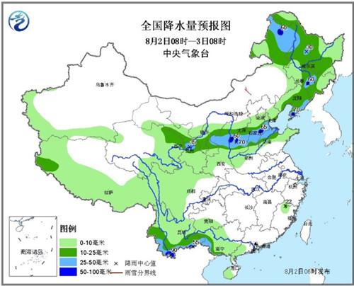 东北华北局地有大暴雨江淮、江汉等地有高温天气