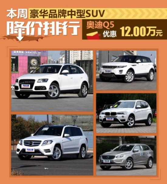 豪华品牌中型SUV降价排行高清图片