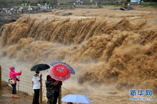 #(晚報)(3)黃河壺口瀑布入汛以來水量暴漲
