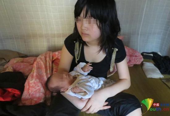 十五六岁的女孩照片-祁东县,12岁女生思思(化名)和她刚满月的女儿.-图片故事 湖南