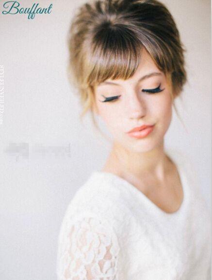 有刘海的新娘发型 打造浪漫新娘造型图片