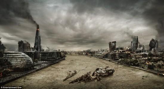艺术家创造英国末日景象