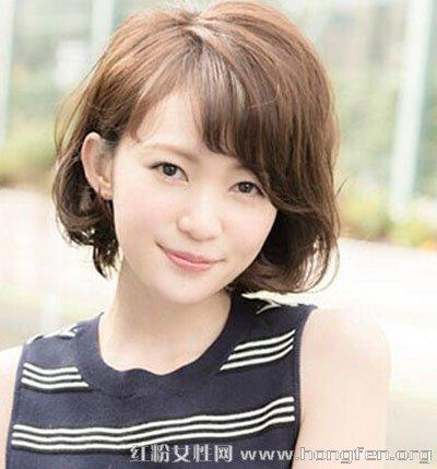 日系女生发型起来图片风格烫发气质短发韩式短发扎凸显好看吗图片