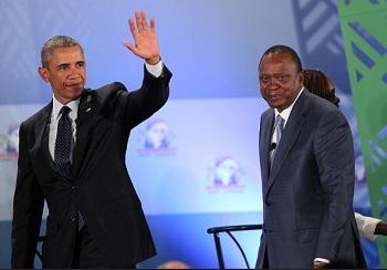 2015年7月25日,美国总统奥巴马和肯尼亚总统肯雅塔在内罗毕会面。(自美国驻内罗毕大使馆)