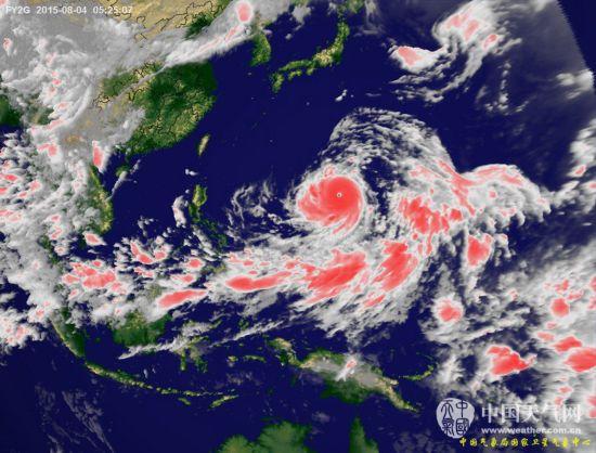 """台风""""苏迪罗""""卫星云图-超强台风 苏迪罗 彩色高清云图图片"""