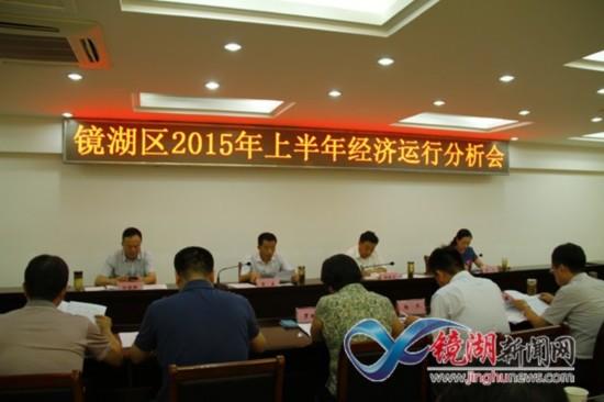 芜湖市镜湖区专题分析经济形势促进区域经济提
