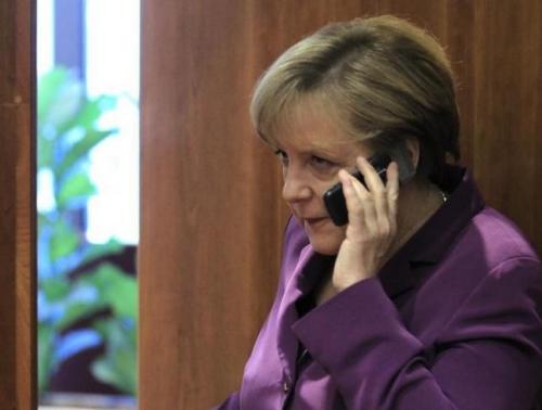 材料图:德国总理默克尔是NSA的监控目标之一。