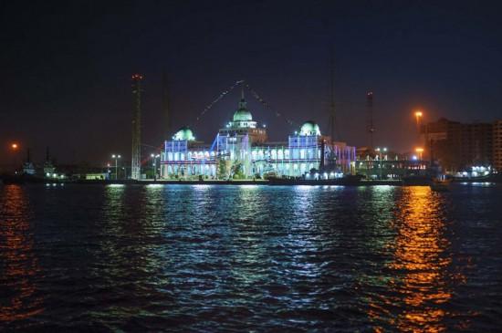 埃及全国庆祝新苏伊士运河开通 高清组图