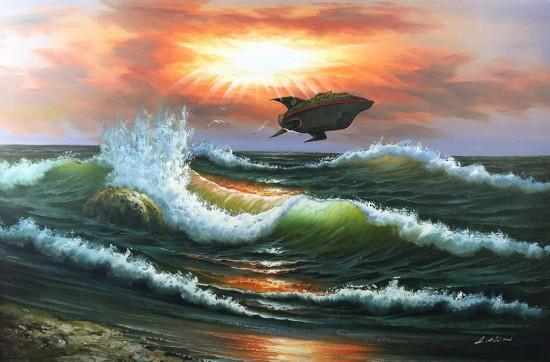 纽约程序员神创作 复古油画混搭现代风
