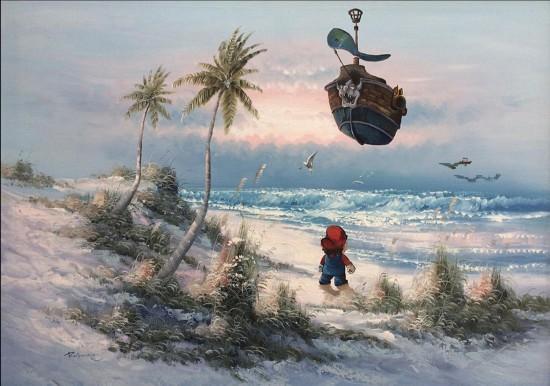 马里奥乘坐海盗船来到了一个小岛,开启了荒岛求生的故事.