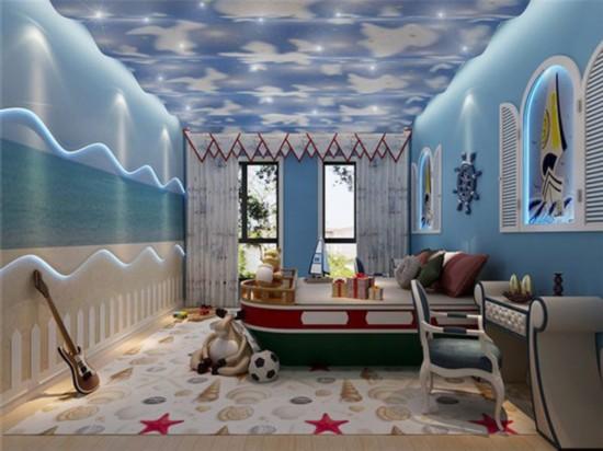 欧式儿童房装修效果图星空
