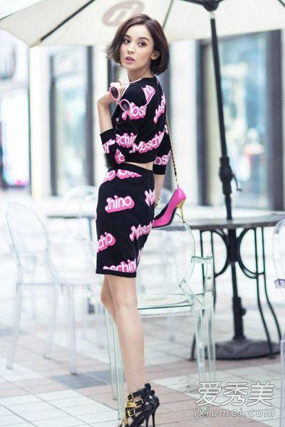 古力娜扎最新街拍 私服搭配清新活泼--时尚--人民网图片